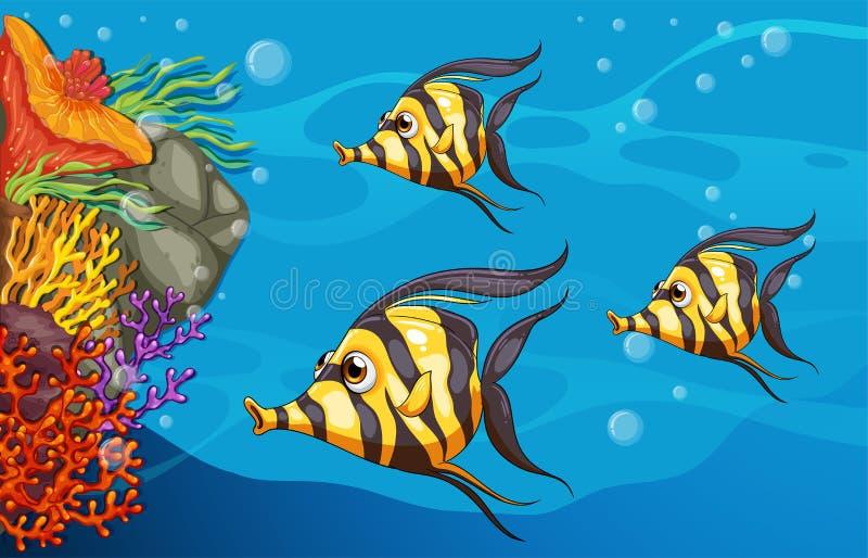 Subacuático stock de ilustración