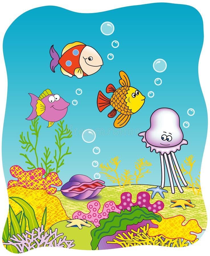 Subacuático - pescados libre illustration