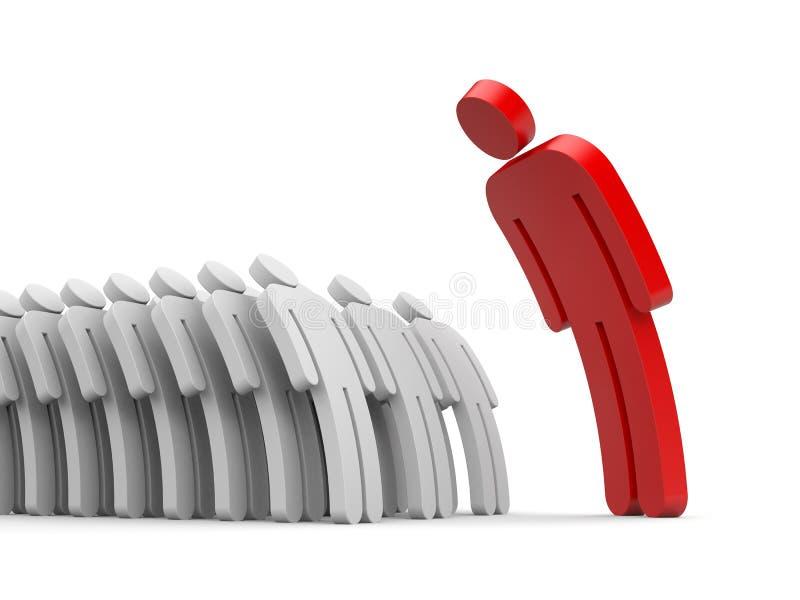 Subalternes stricts de patron et d'employés illustration libre de droits