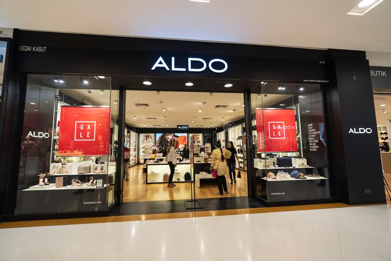 Aldo in sunway pyramid. SUBANG JAYA, SELANGOR - 25 July 2018. ALDO inside Sunway Pyramid Mall at Subang Jaya royalty free stock photos