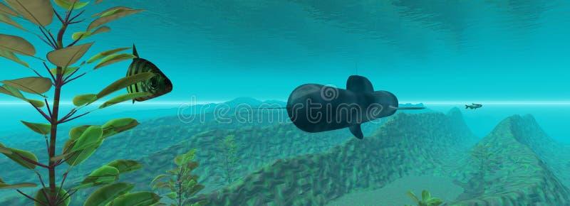 Download Subaquático ilustração stock. Ilustração de viagem, marinho - 107769