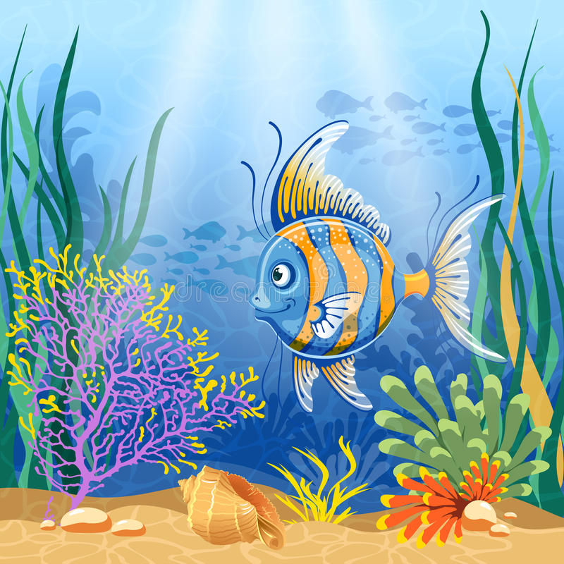 Subaquático ilustração royalty free