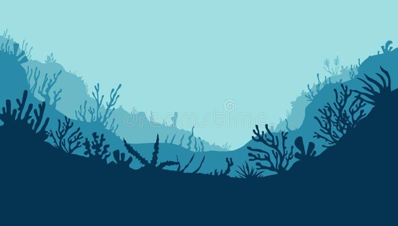 1 subaquático ilustração royalty free