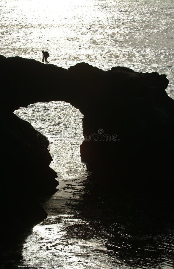Subaqueo di California al tramonto fotografia stock libera da diritti