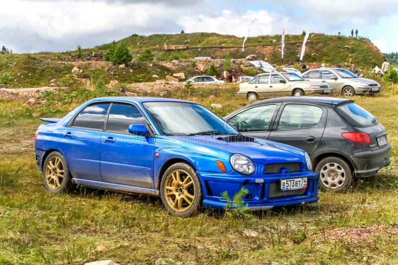 Subaru Impreza fotografie stock libere da diritti
