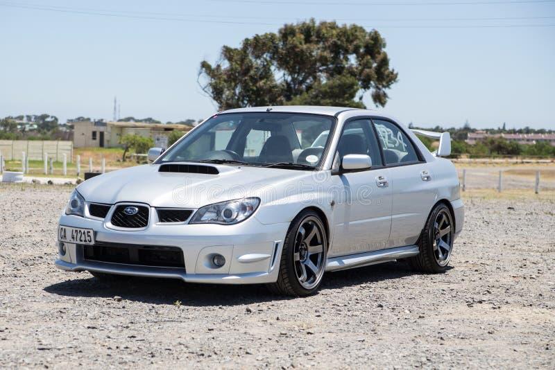 Subaru Impreza de plata fotografía de archivo libre de regalías