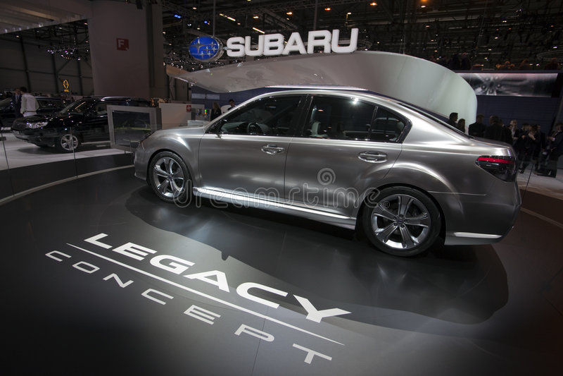 Download Subaru Legacy Concept - 2009 Geneva Motor Show Editorial Stock Photo - Image: 8431378