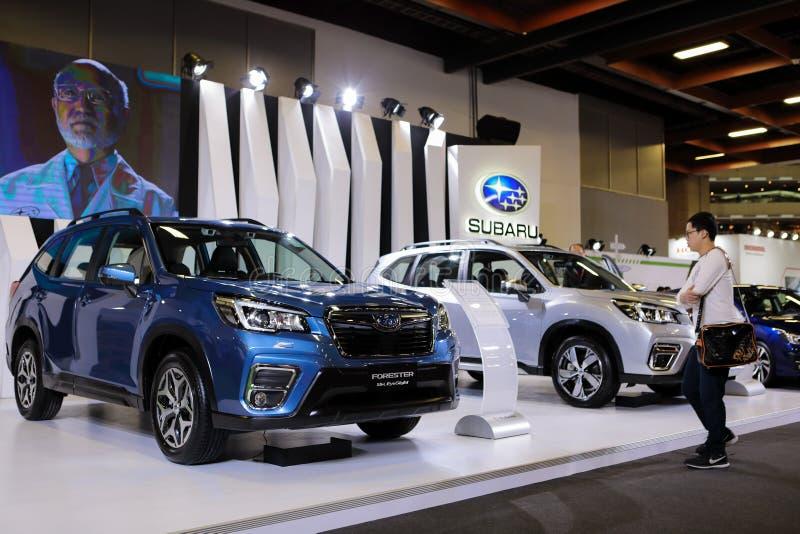 Subaru skogvaktareNewst bil 2019 royaltyfri fotografi
