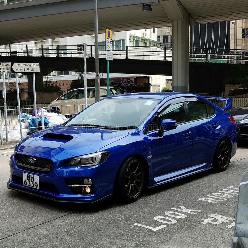 Subaru-STi 2016 stock afbeelding