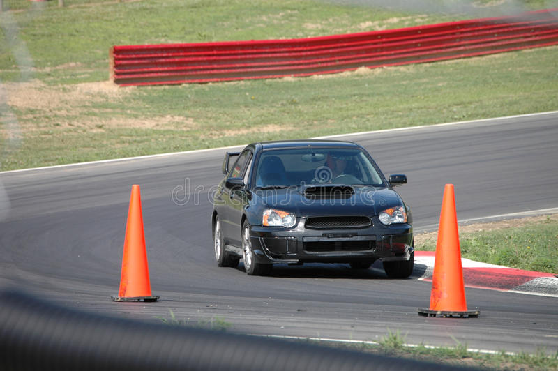 Download Subaru STi Driving On Race Course Stock Photo - Image of automobile, drive: 13856822