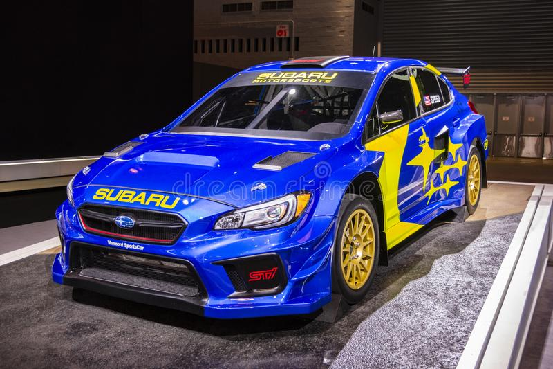2019 Subaru WRX STI VT19x Rallycross Supercar stock afbeeldingen