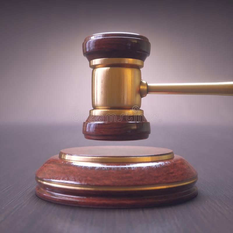 Subasta de Hammer Gavel Bid del juez foto de archivo