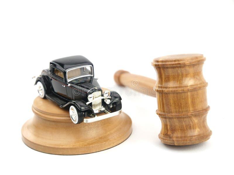Subasta y coche del mazo fotografía de archivo
