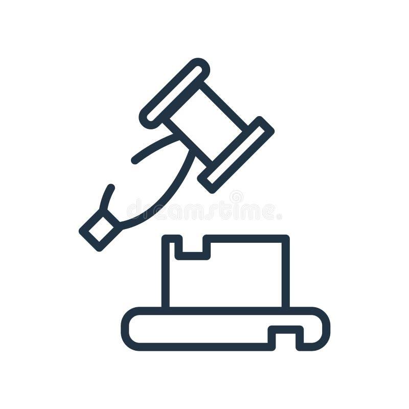 Subaste el vector del icono aislado en el fondo blanco, muestra de la subasta, libre illustration
