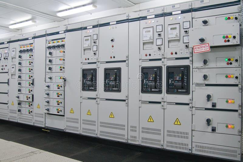 Subestação da distribuição da energia elétrica fotos de stock