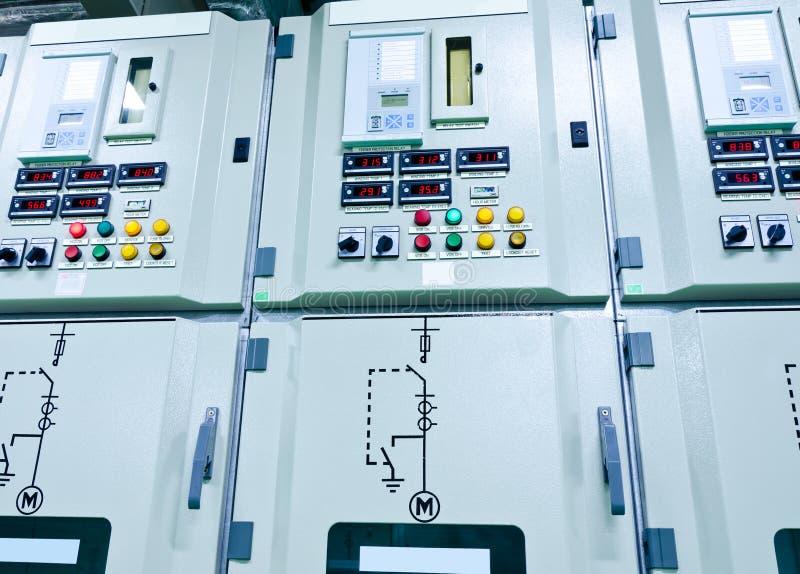 Subestação da energia elétrica imagens de stock