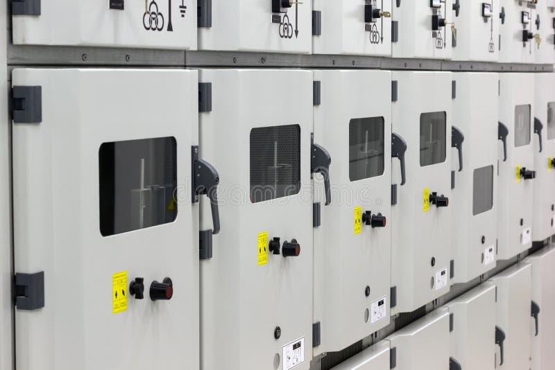 Subestação da energia elétrica imagens de stock royalty free