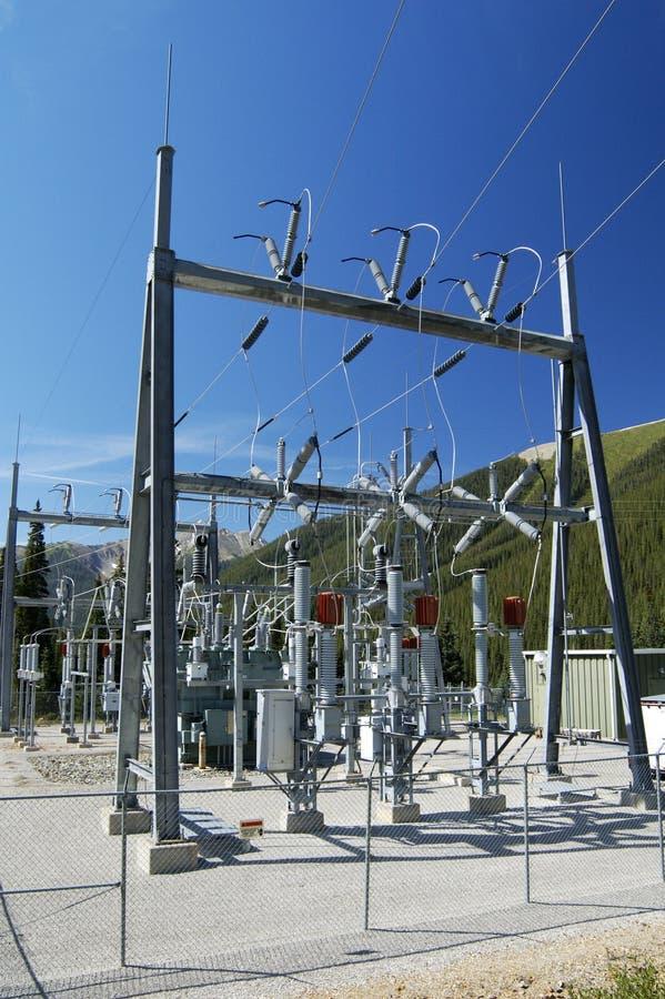 Subestação eléctrica imagens de stock