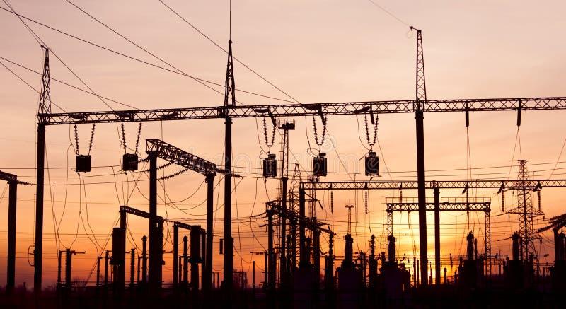 Subestação elétrica imagem de stock royalty free