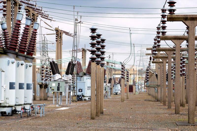 Subestação elétrica fotografia de stock royalty free