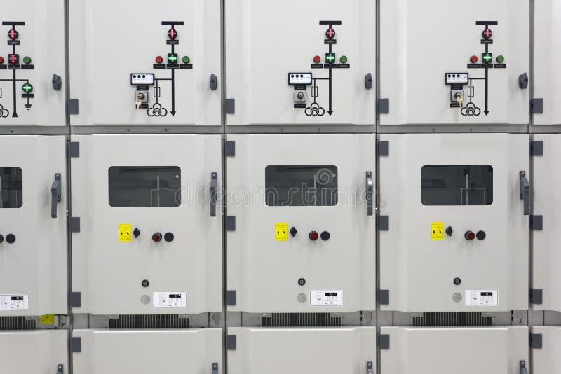 Subestação elétrica industrial imagens de stock