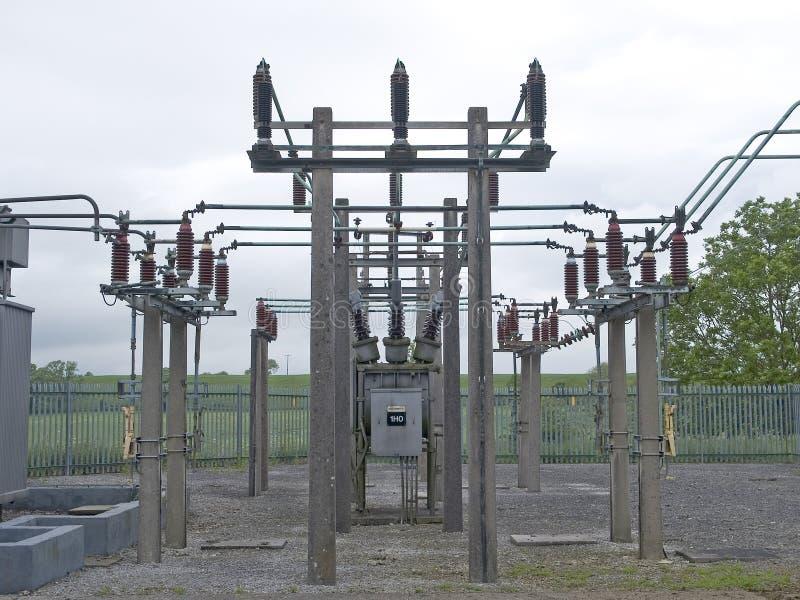 Subestación eléctrica foto de archivo libre de regalías