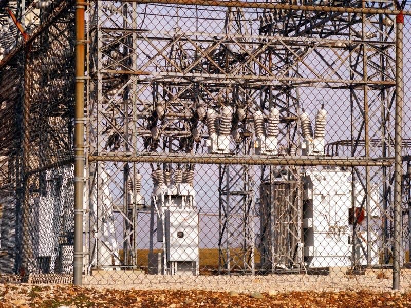 Subestación eléctrica fotos de archivo libres de regalías