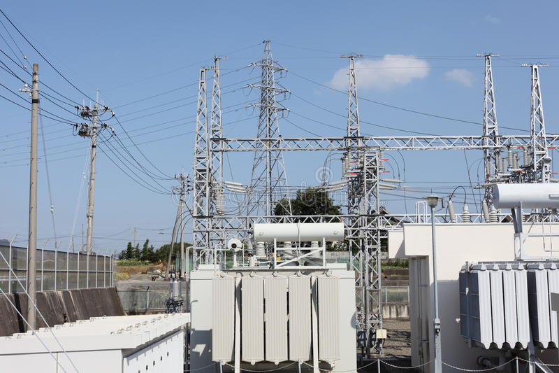 Subestación eléctrica eléctrica fotografía de archivo libre de regalías