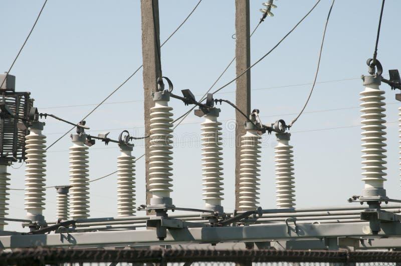 Subestación eléctrica eléctrica fotos de archivo
