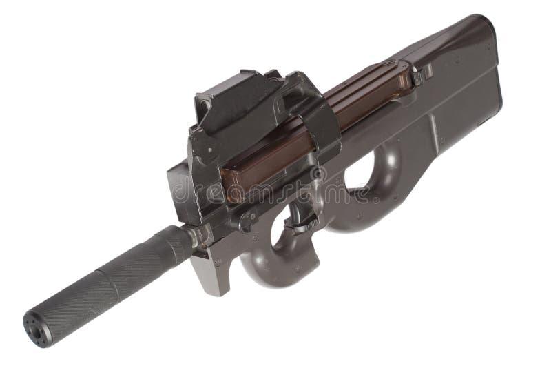 Subfusil ametrallador P90 foto de archivo