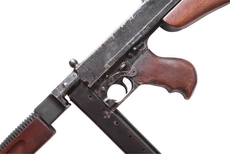Subfusil ametrallador viejo de los E.E.U.U. foto de archivo libre de regalías