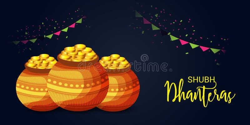 Subh Dhanteras ilustração stock