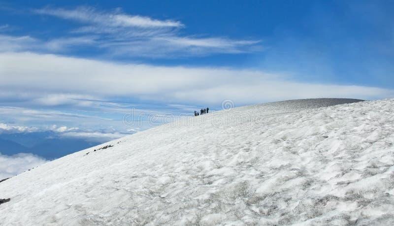Subida al volcán de Villarrica fotos de archivo libres de regalías