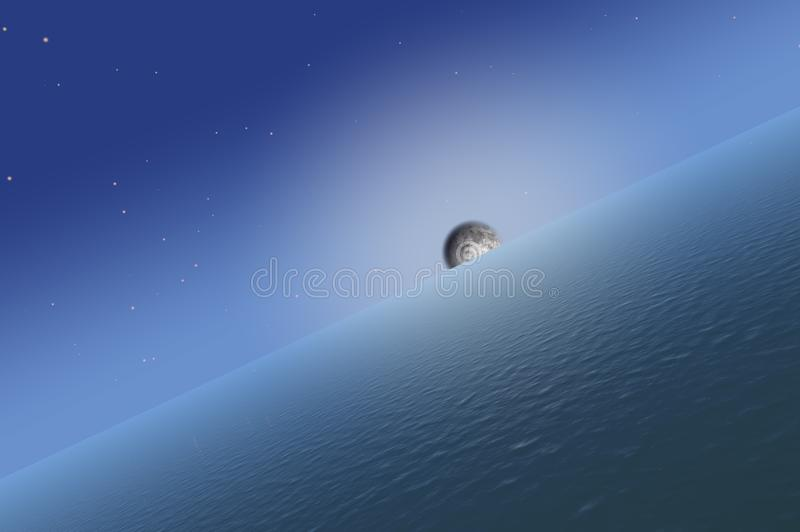 Subida de la luna foto de archivo