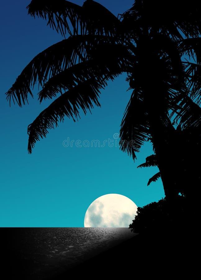 Subida de la luna azul libre illustration