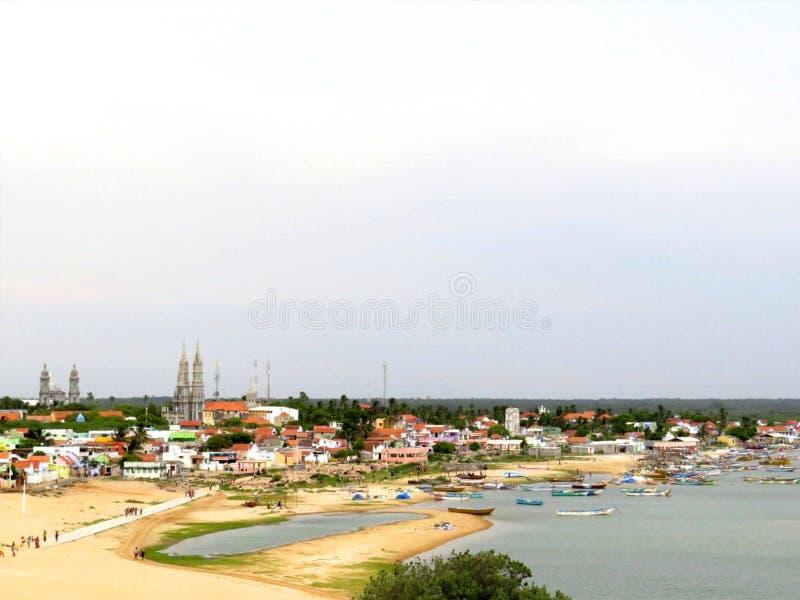 Subida de Sun de Manapad, Tamilnadu fotos de archivo