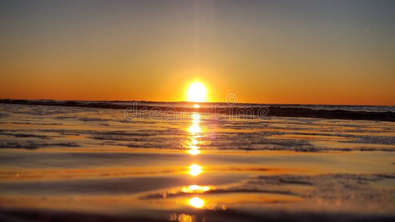 Subida de Sun de la costa este imagen de archivo