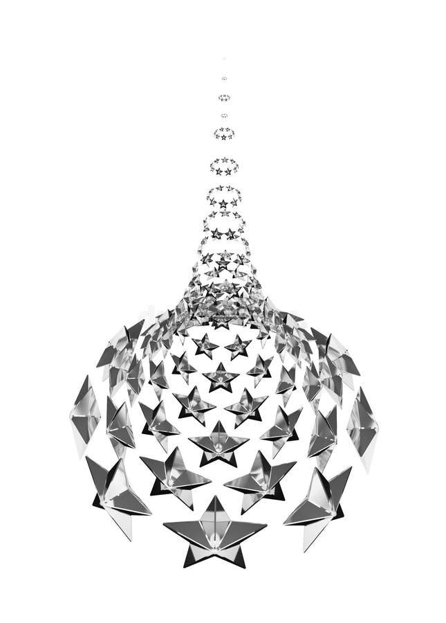 Subida del cono de la estrella, plata stock de ilustración