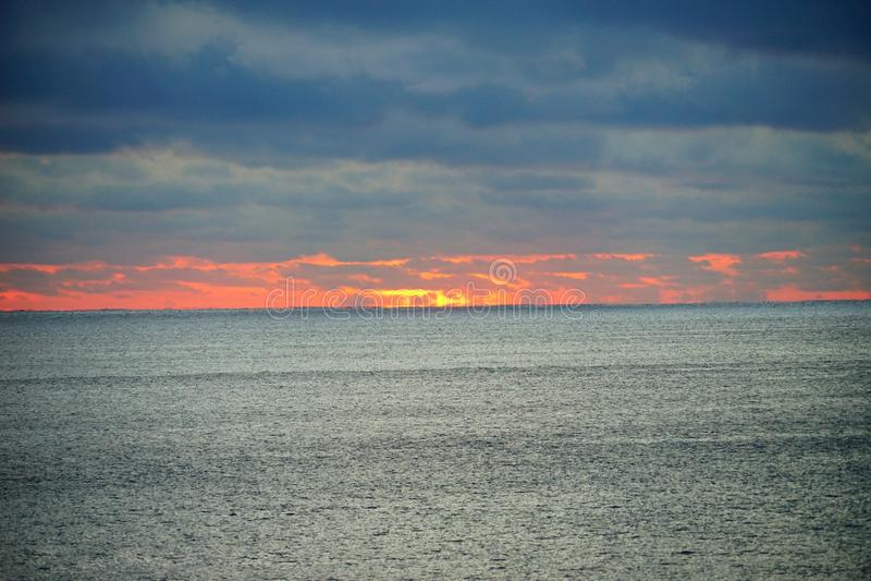 Subida del sol de Miami imagen de archivo libre de regalías