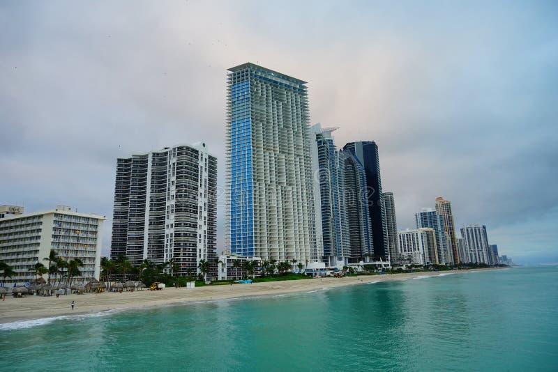 Subida del sol de Miami imagen de archivo