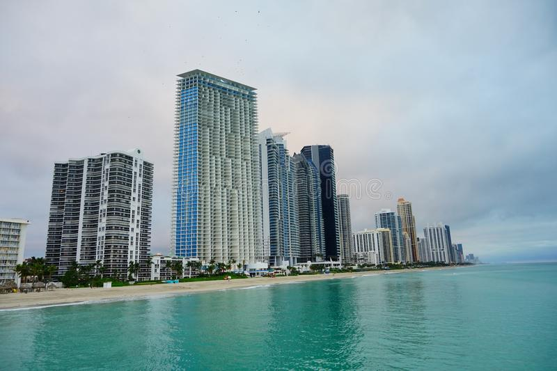 Subida del sol de Miami foto de archivo libre de regalías