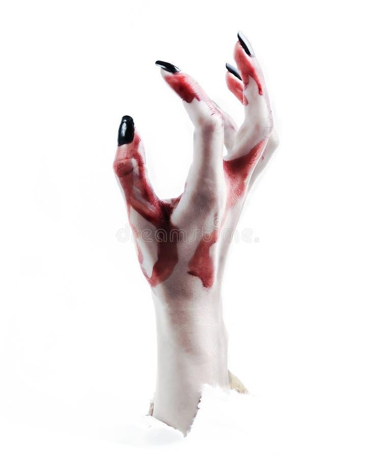 Subidas del vampiro de la mano imagen de archivo libre de regalías