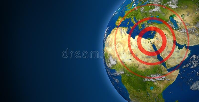 Sublevaciones de Oriente Medio y de la África del Norte ilustración del vector