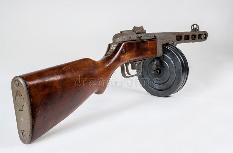 Submachine πυροβόλο όπλο ppsh-41 σε ένα ελαφρύ υπόβαθρο στοκ εικόνες
