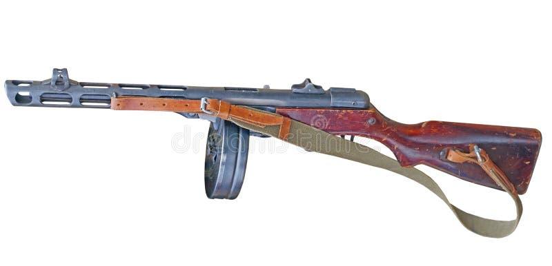 Submachine πυροβόλο όπλο wwii που απομονώνεται στο λευκό στοκ φωτογραφίες