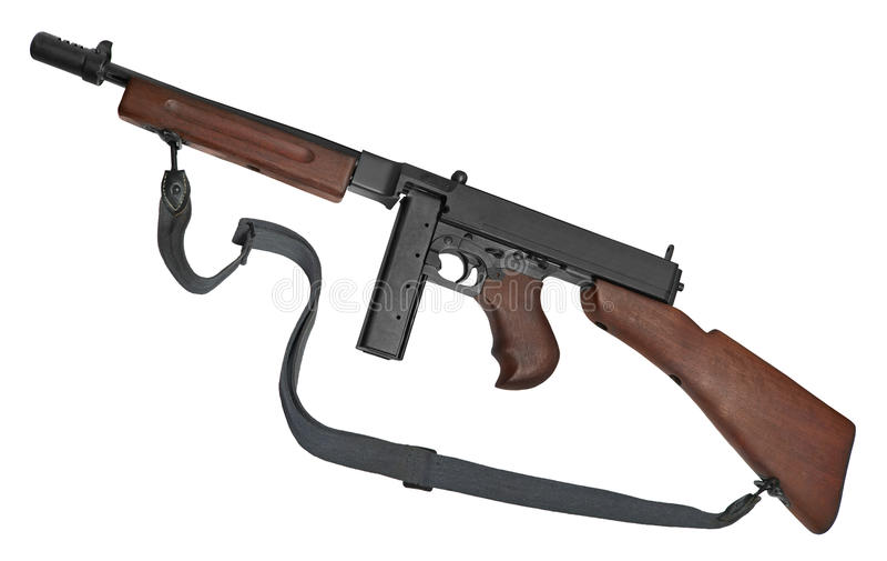 submachine πυροβόλων όπλων στοκ εικόνες