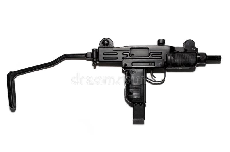 Submachine πυροβόλο όπλο που απομονώνεται στο άσπρο υπόβαθρο, πνευματικό όπλο στοκ εικόνες