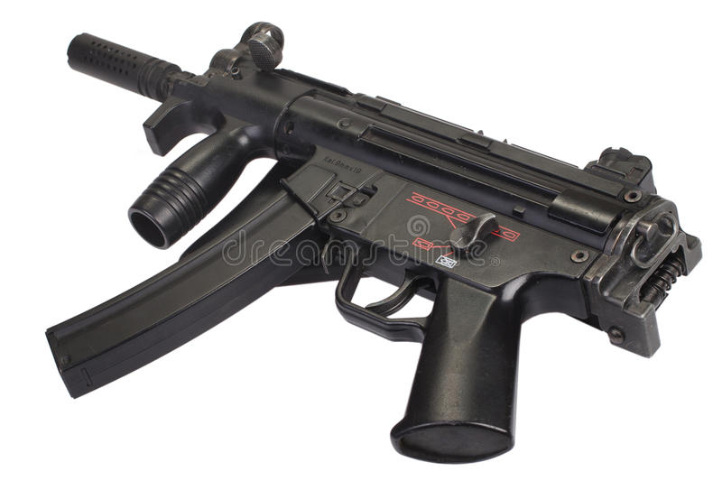 Submachine πυροβόλο όπλο MP5 που απομονώνεται στοκ φωτογραφίες με δικαίωμα ελεύθερης χρήσης