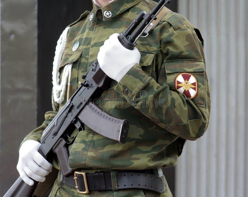 submachine воина 3 пушек стоковое изображение