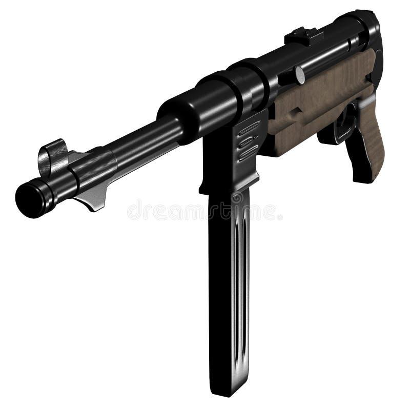 submachine пушки mp40 иллюстрация вектора